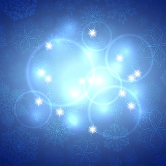 Blue winter abstract background. christmas background with snowflakes. vector.