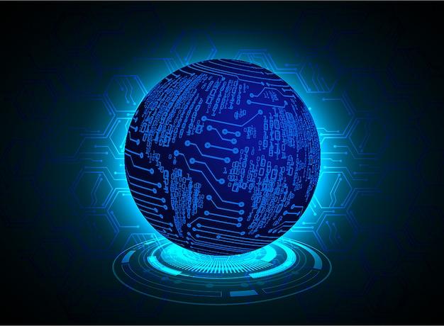 Blue world cyber circuit future technology background