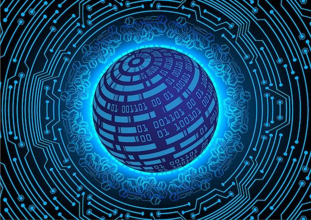 Blue world cyber circuit future technology concept
