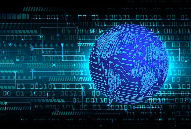 Blue world cyber circuit future technology
