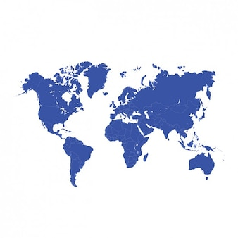 Blue world map design