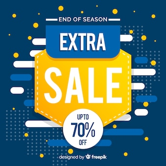 Blue and yellow abstract sales promotion