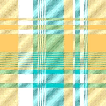 파란색 노란색 밝은 색 체크 식탁보 원활한 패턴