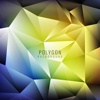 Blue and yellow polygonal background