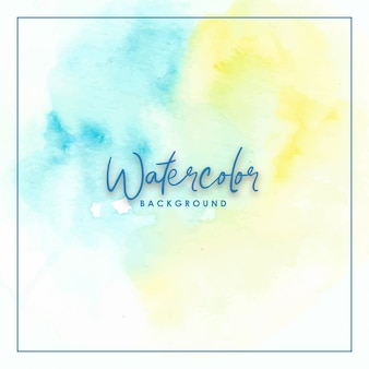 Blue and yellow splash gradient handmade watercolor