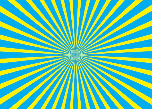 Blue and yellow sunny background