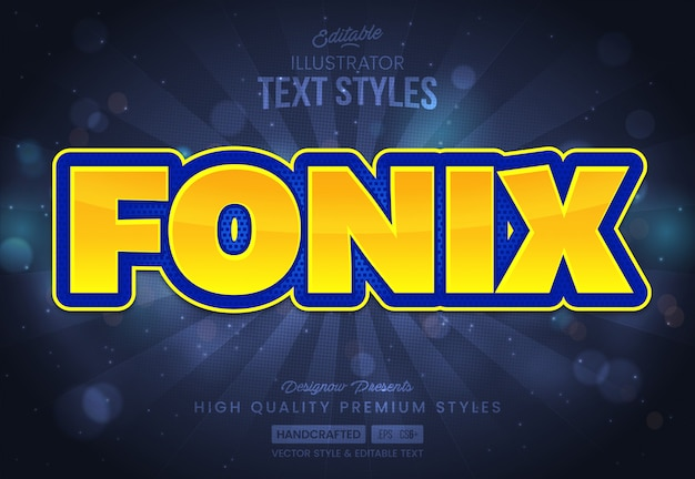 Blue and yellow text style
