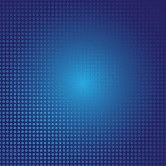 光blue円で構成されるベクトル図。あなたのビジネスのための点のグラデーションデザイン。色のついた斑点を持つハーフトーンスタイルの創造的な幾何学的背景。