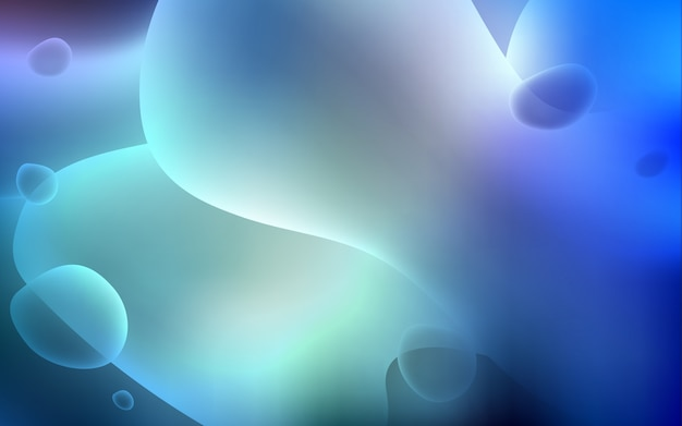 折り曲げられたリボン付きライトblueベクトルテンプレート