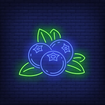 Blueberries neon sign.