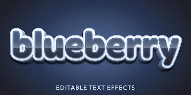 Редактируемые текстовые эффекты черники