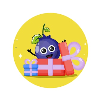 Blueberry gift cute character mascot