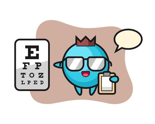 Blueberry mascot as a ophthalmology