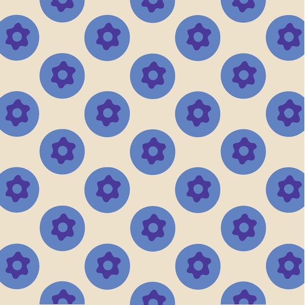 Blueberry pattern background social media post fruits vector illustration