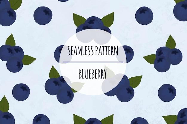 Blueberry seamless pattern premium