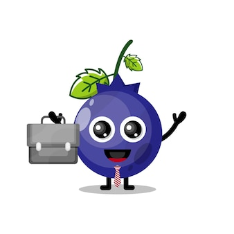 Blueberry works cute character mascot
