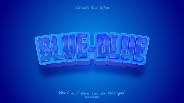 진한 파란색의 파란색 파란색 텍스트 효과