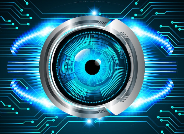 Blueeye cyber circuit future technology background