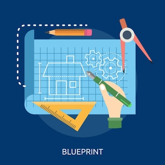 Blueprint background design