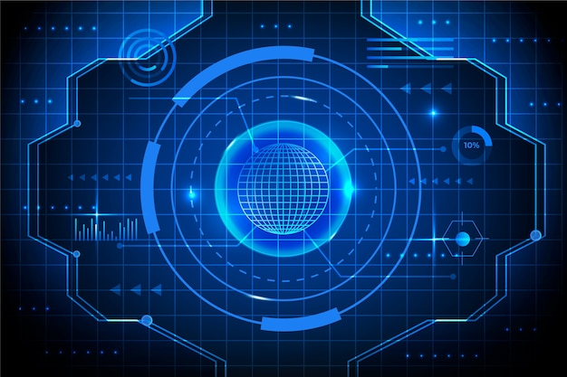 Blueprint cyber eye technology background