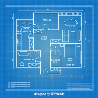 Blueprint design plan of a house