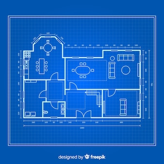 Blueprint of a house top view