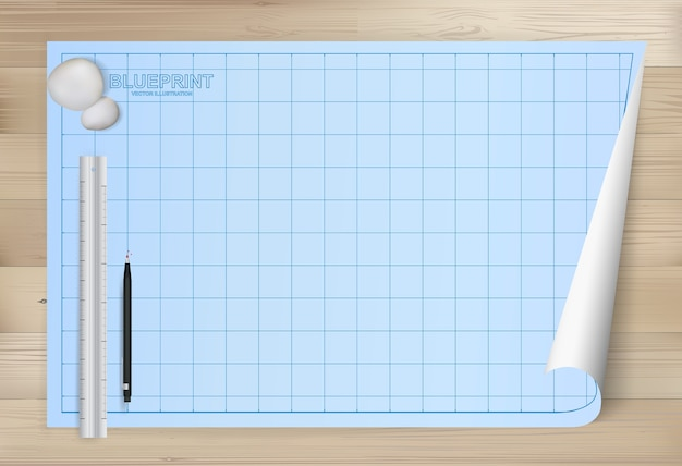 Blueprint paper background for architectural drawing.