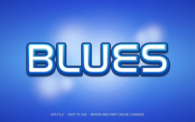 Blues - editable text effect style