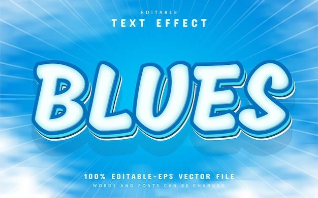 Blues text, editable text effect