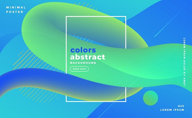 Bluish abstract fluid loop banner