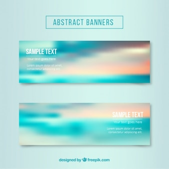 Blur abstract banners set