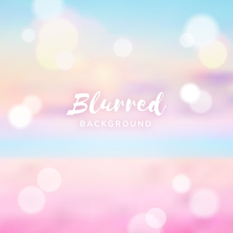 Blur background with bokeh effect