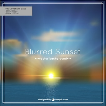 Blur beach sunset background