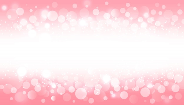 Blur bokeh light effect on pink background
