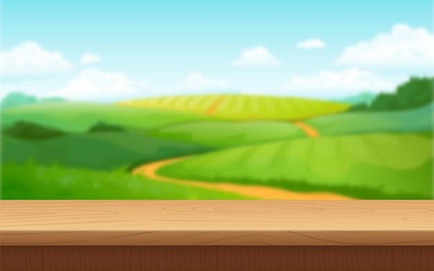 Размытие пейзаж фона иллюстрации