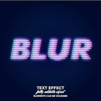 Blur light text effect