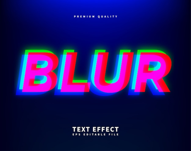 Blur style font, modern distorted glitch letters
