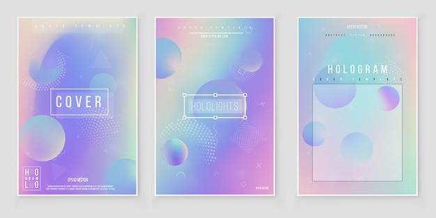 Blurred abstract color background set. trendy modern design