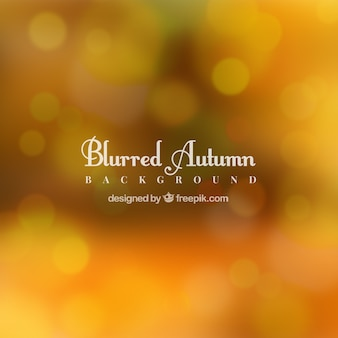 Blurred autumn background with bokeh effect