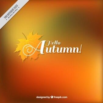 Blurred background autumn