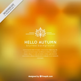 Blurred background of autumnal colors