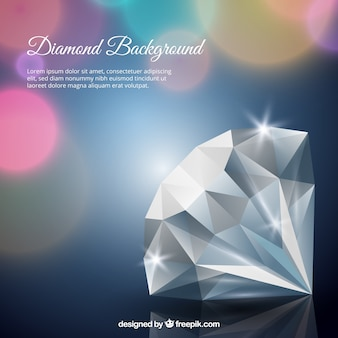 Blurred background bokeh of diamond