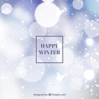 blurred background happy winter