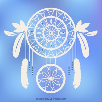 Blurred background with great dreamcatcher