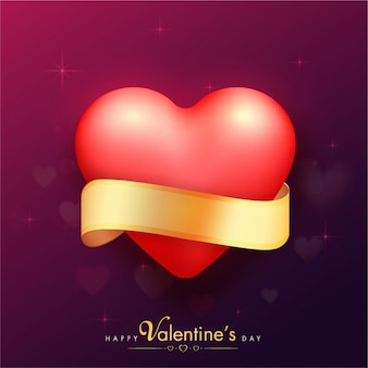 Blurred background with heart for valentine's day