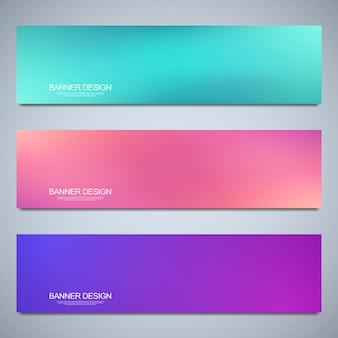 배너 디자인 서식 파일에 대 한 배경을 흐리게 다채로운 패턴 생생한 색상 유체 추상