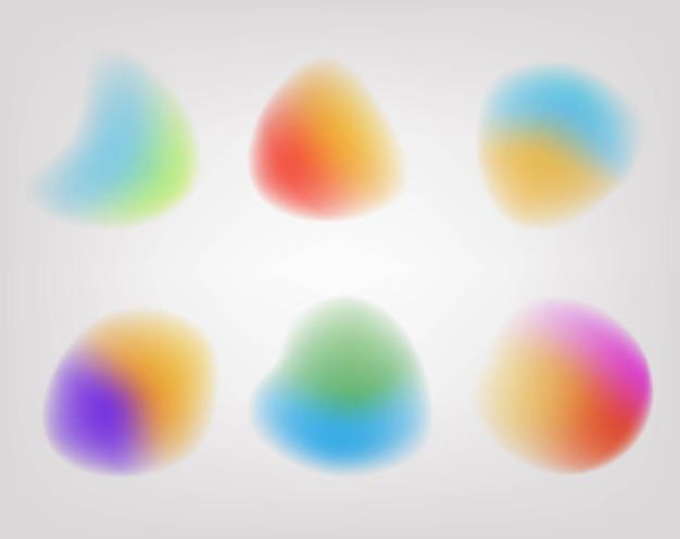 Размытый шар с серым фоном