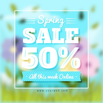 Blurred banner spring sale