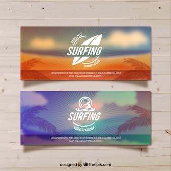 サーフィンのかすみビーチバナー