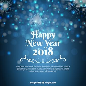 Blurred blue new year background